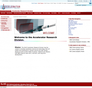 SLAC Space intranet design